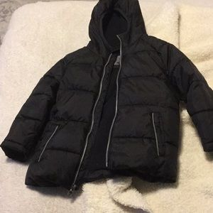 4T Boys Black Puffer Jacket